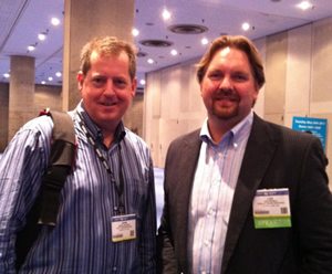 John Jantsch & Lee Odden at BlogWorld New York 2011