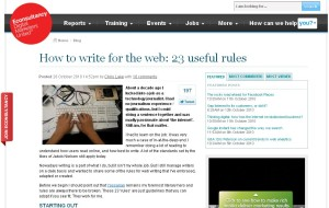 how to write for the web: 23 useful rules
