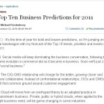 Top 10 Business Predictions for 2011