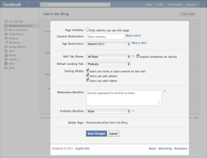 Facebook Marketing: Content Controls