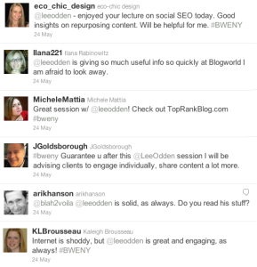 @TopRank Tweets During BlogWorld New York