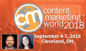 Lee Odden and Ashley Zeckman Speaking At Content Marketing World 2018