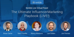 See Lee Odden Speak at Nimble Virtual Event: The Ultimate Influencer Marketing Playbook LIVE