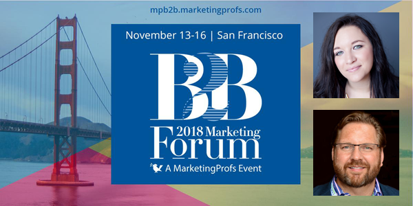 Lee Odden & Ashley Zeckman Speaking at 2018 B2B Marketing Forum Image