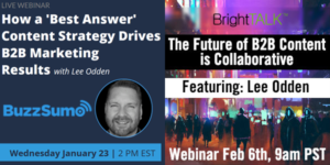 BuzzSumo and BrightTALK Webinars Image