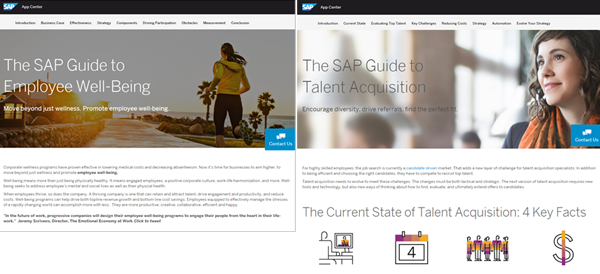 SAP App Center Page Images