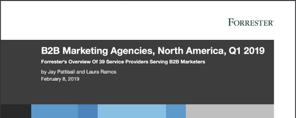 Forrester Research B2B Marketing Agencies 2019