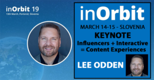 Lee Odden Speaking at inOrbit 2019