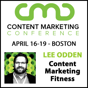 Lee Odden speaking at Content Marketing Conference 2019