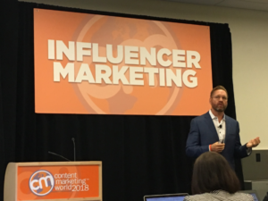 Lee Odden speaking at CMWorld 2018