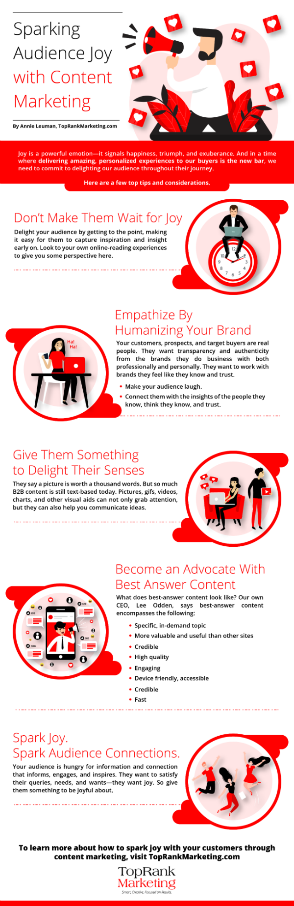 infographic joy content marketing