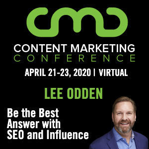 Lee Odden at Content Marketing Conference 2020