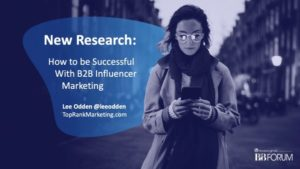 Success B2B Influencer Marketing MPB2B