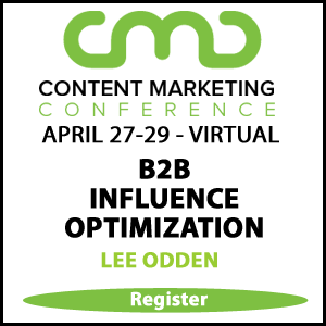 Lee Odden at Content Marketing Conference 2021