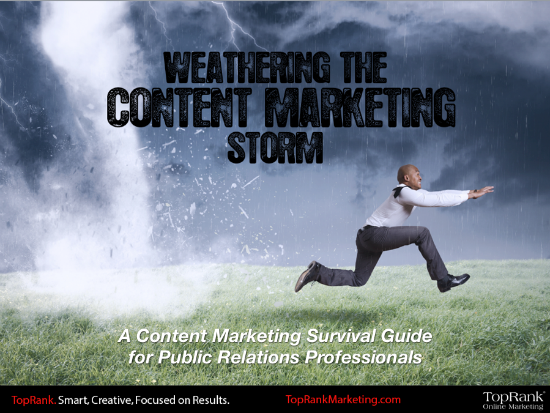 PRSA Weathering the Content Marketing Storm Ebook Cover