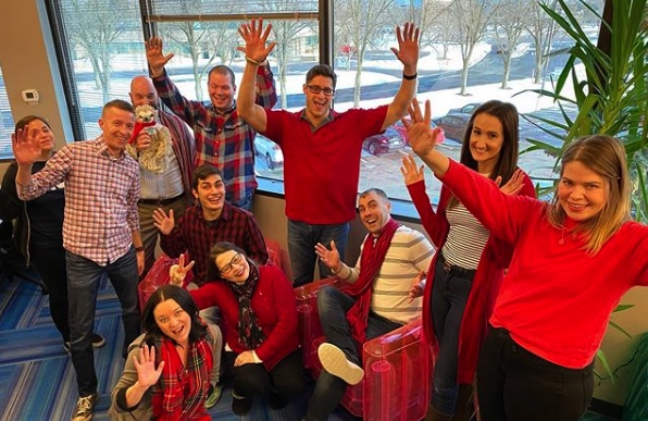 TopRank Marketing Team on Wear Red Day